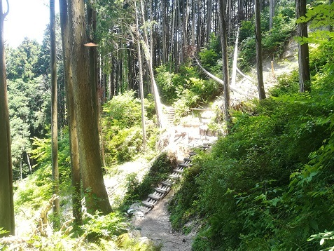 20 櫛羅の滝コース 土砂崩れ現場