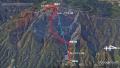 26 葛城山ルート図 グーグルアース