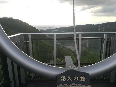 2 明神山の展望デッキ 悠久の鐘