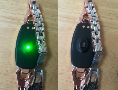 5 緑のLED発光で測定