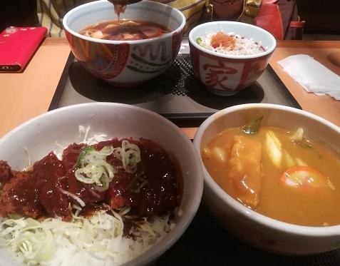 5 ちょうちん横丁 昼食 味噌カツ丼 キシメン