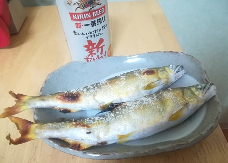 2 前夜祭 鮎の塩焼き