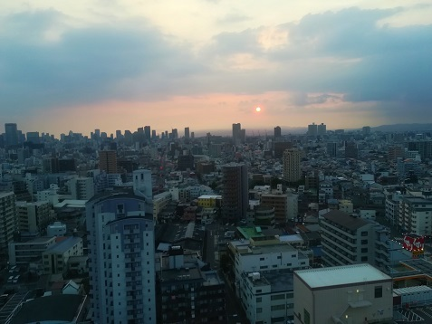 4 大阪湾へ沈む夕日