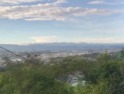 4 大峰山系の遠望