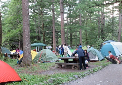 6 上高地 小梨平キャンプ場のイメージ