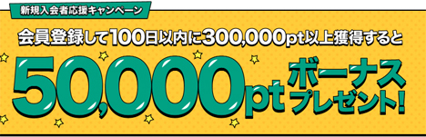 げん玉の新規入会キャンペーンは超お得、ボーナスポイント50,000ptプレゼントで、17,500マイル!