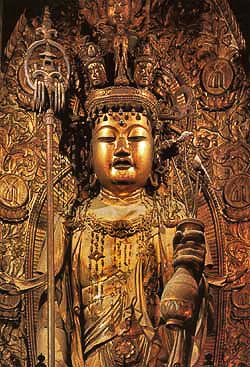 奈良県長谷寺の十一面観音