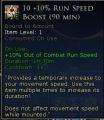 +10% run speed boost