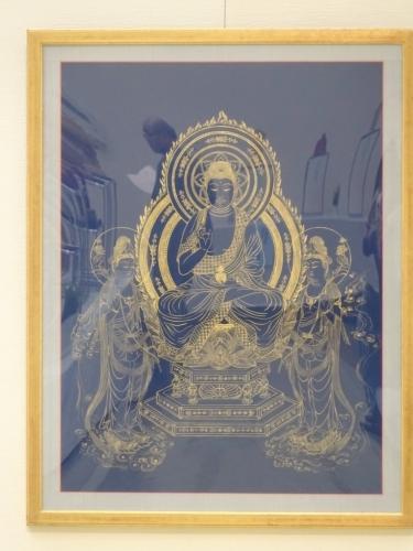 薬師三尊像仏画