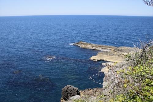 日本海の海の青さ