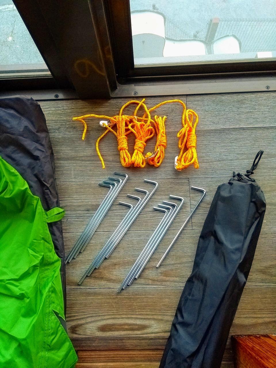 キャンプ道具あれこれ(テントの付属品)