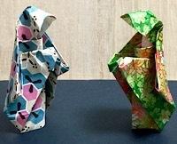 Origami priestess