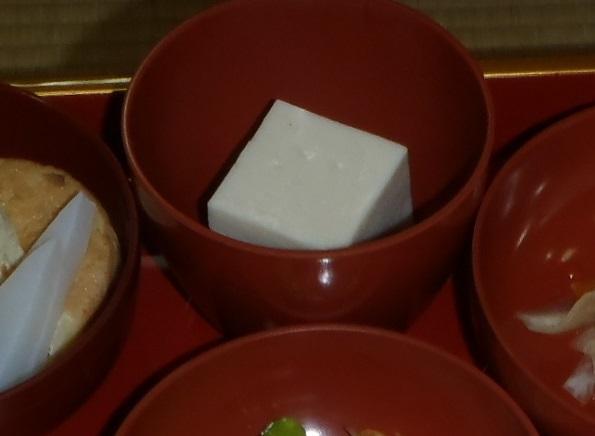 1夜 メニュー2ゴマ豆腐