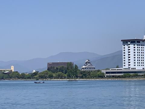 1687-琵琶湖から見た長浜城