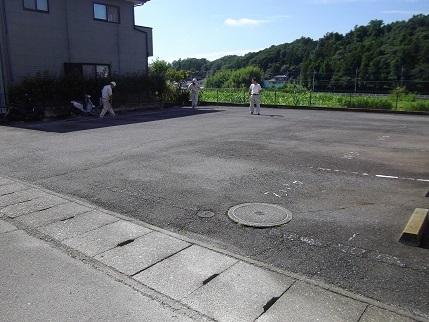 施工前フルール駐車場下
