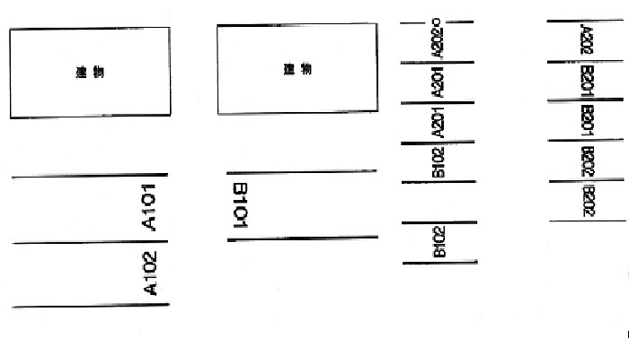 フルール駐車場略図