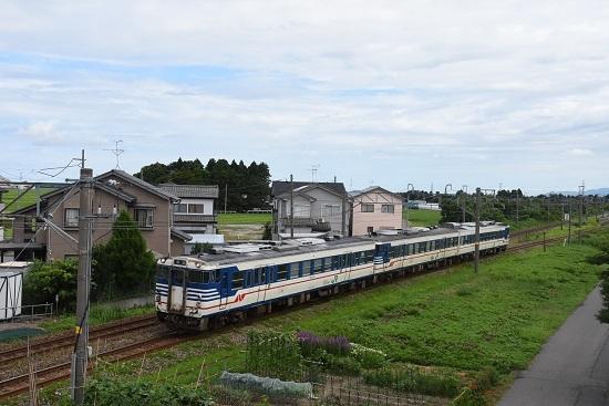 羽越本線 キハ47 新潟色青3両