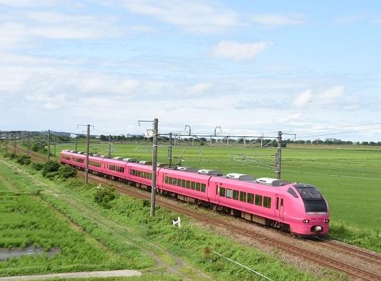 2001M E653系 U107編成 ハマナス色「いなほ1号」