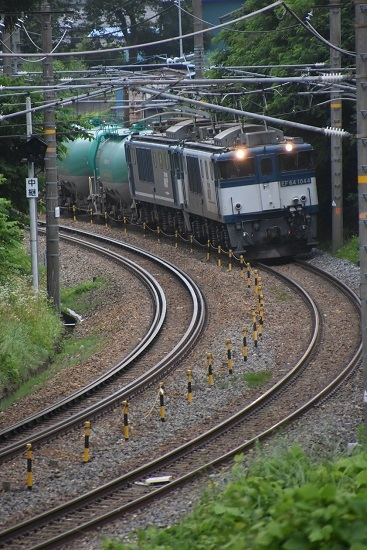 西線貨物8084レ EF64-1044+1049号機 本山にて