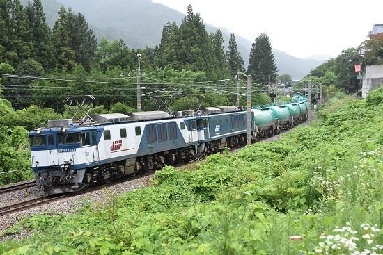 西線貨物8084レ EF64-1044+1049号機 本山のカーブにて