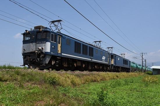 2019年7月30日 西線貨物8084レ EF64-1046+102号機