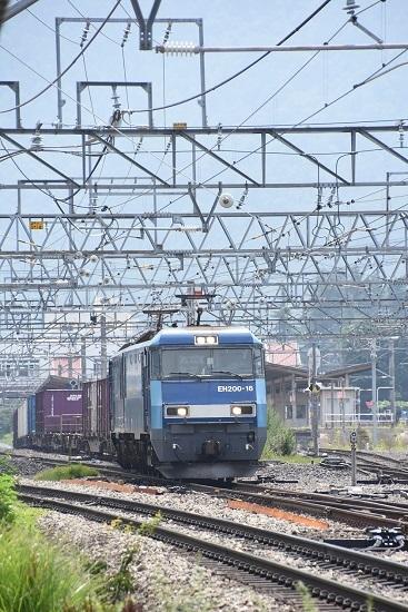 2019年7月31日 東線貨物2083レ EH200-16号機 正面