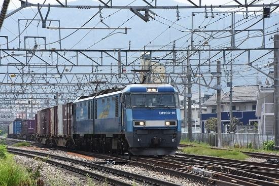 2019年7月31日 東線貨物2083レ EH200-16号機 手前まで引っ張る