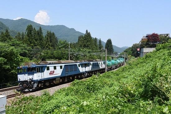 2019年8月1日 西線貨物8084レ EF64-1015+1011号機