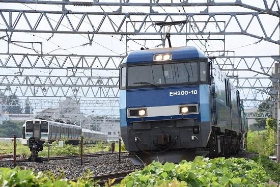 2019年8月3日撮影 東線貨物2084レ EH200-18号機