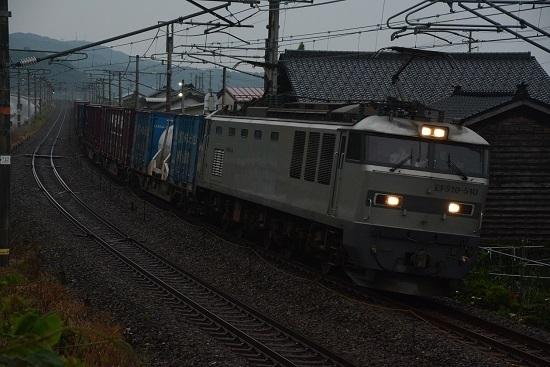 日本海縦貫線 4091レ EF510-510号機 銀釜