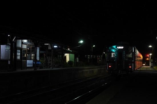 信濃竹原駅にて3500系