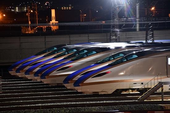 2019年8月10日 E7系新幹線 7並び