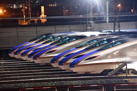 2019年8月10日 E7系新幹線 8な並び