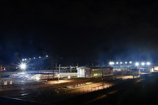 2019年8月10日 長野新幹線車両センター 全景をバルブ