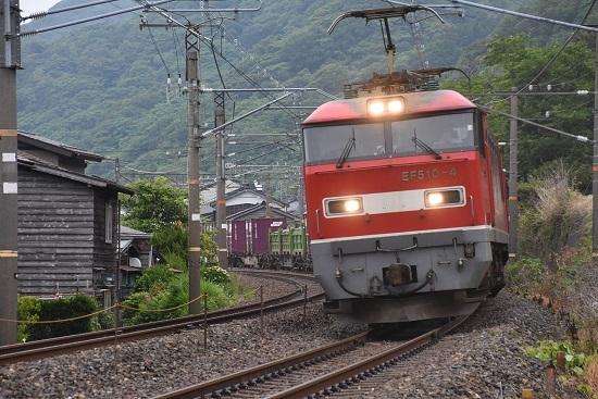 日本海縦貫線 4076;レ EF510-4号機