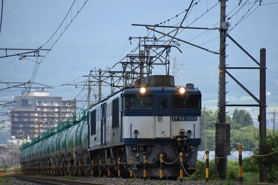 2018年8月17日 西線貨物8084レ EF64-1004+1049ごうき