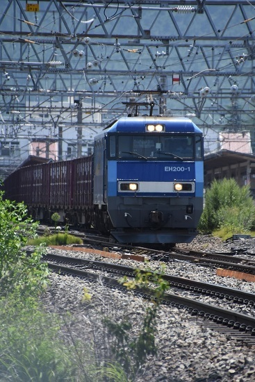 2019年8月17日 東線貨物2083レ EH200-1号機 塩尻駅通過