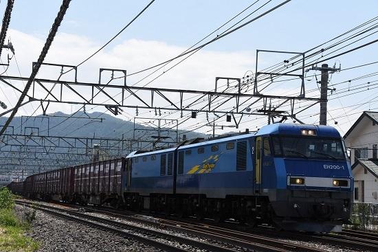 2019年8月17日 東線貨物2083レ EH200-1号機 正面