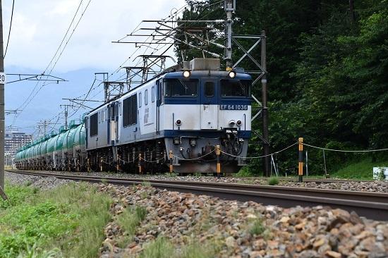 2019年8月16日 西線貨物8084レ EF64-1036+1022号機