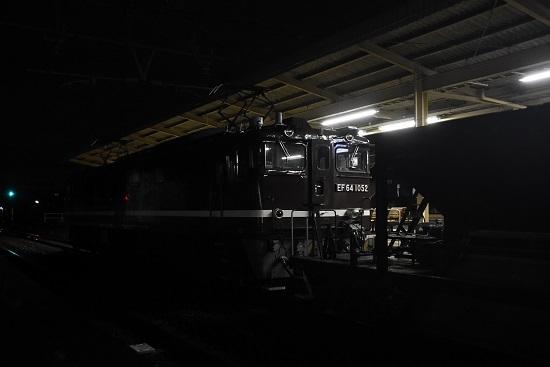 EF64-1052号機 茶釜とホキ廃回