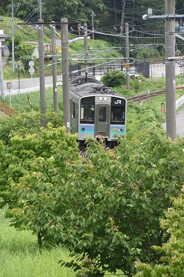 辰野線 E127系 回送 自宅ベランダ