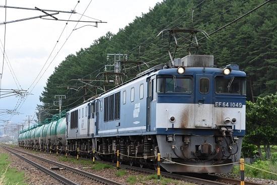 西線貨物8084レ EF64-1049号機 広島更新色先頭