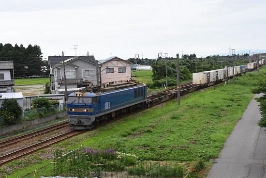 羽越本線加治駅 3098レ EF510-513号機 青釜