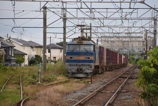 2093レ 佐々木駅に止まるEF510-505号機 青釜