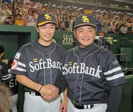 20190623交流戦優勝工藤監督と和田投手