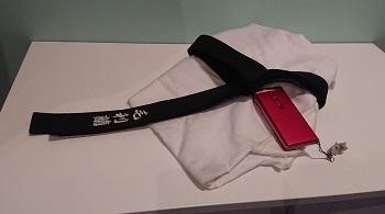 蘭の柔道着と携帯
