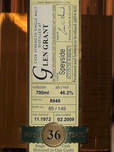 Peerless GLEN GRANT 1972_L600