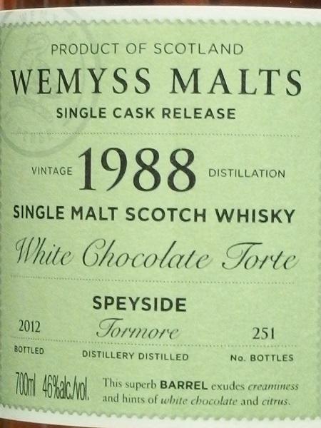 WEMYSS MALTS TORMORE 1988-2012_L600