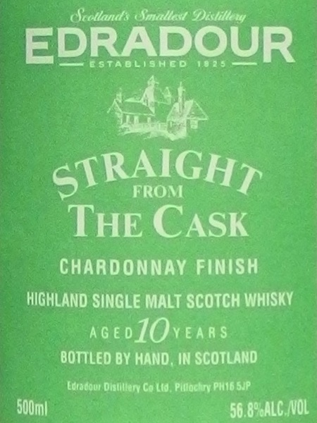 EDRADOUR Straight From The Cask Chardonnay Finish 1993 10yo_L600