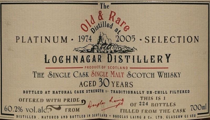 The Old Rare LOCHNAGAR 1974_L800